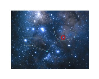 The photographic image of your star's constellation is created exclusively for International Star Registry customers and shows the location of your star